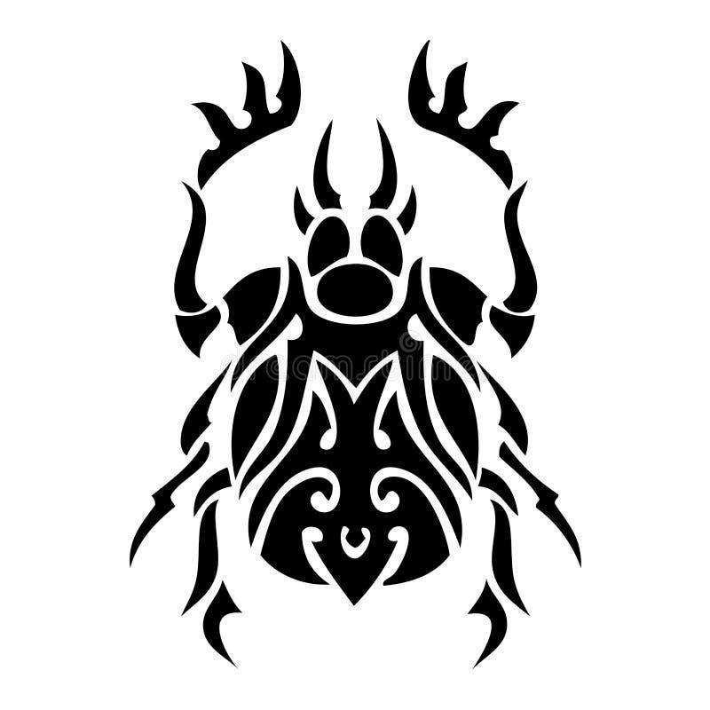bug tatuażu wektora ilustracja wektor