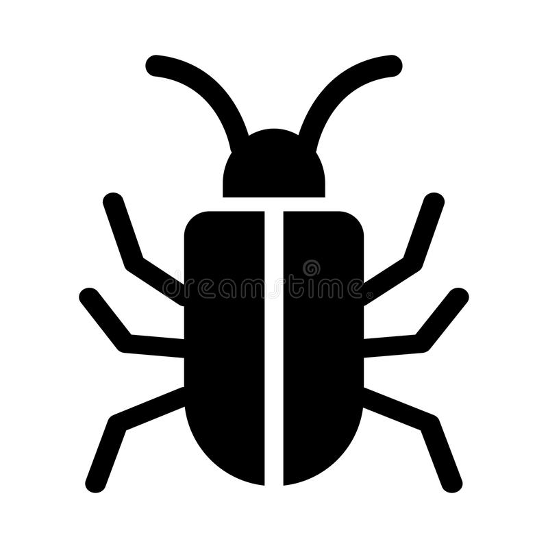 Bug glyphs icon. Bug Vector glyphs Icon. Elements for mobile concept and web apps. Thin line icons for website design and development, app development. Premium stock illustration