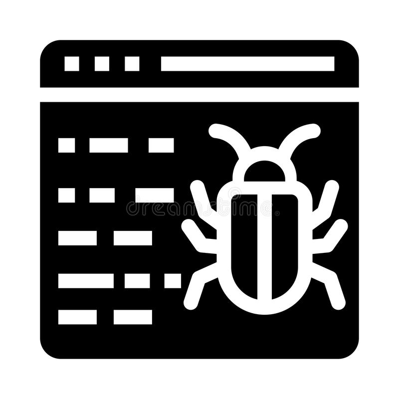 Bug glyphs icon. Bug Vector glyphs Icon. Elements for mobile concept and web apps. Thin line icons for website design and development, app development. Premium royalty free illustration