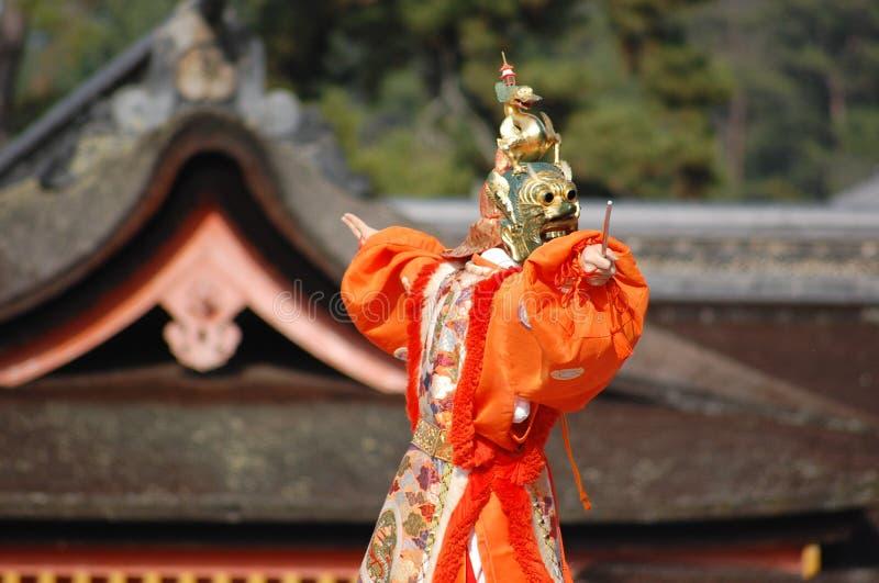 Bugaku Tanz @ Itsukushima @ Miyajima stockfotos