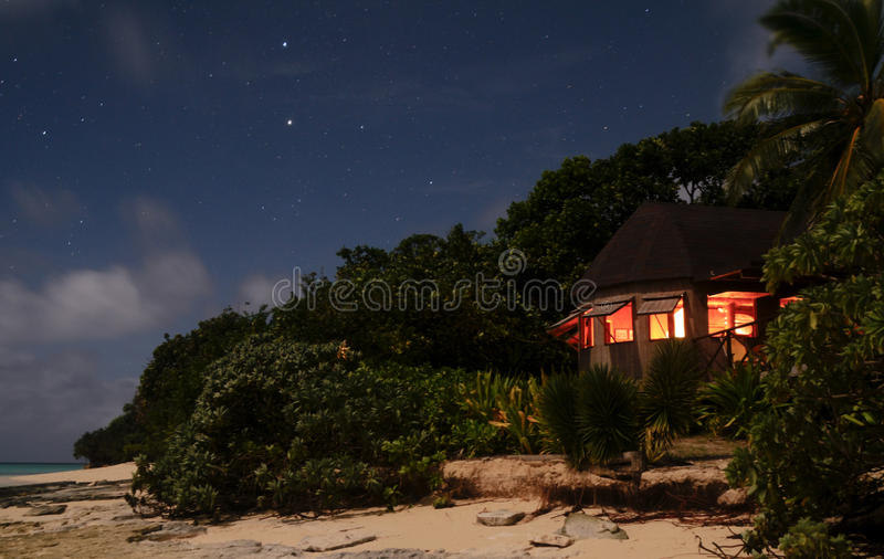 Bugalow by night royalty free stock image