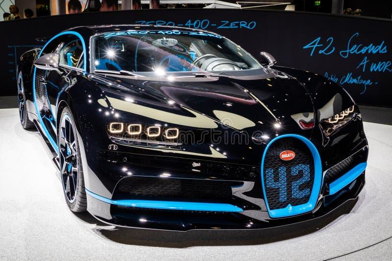 Bugatti Chiron automobile sportiva dell'edizione da 42 secondi fotografia stock