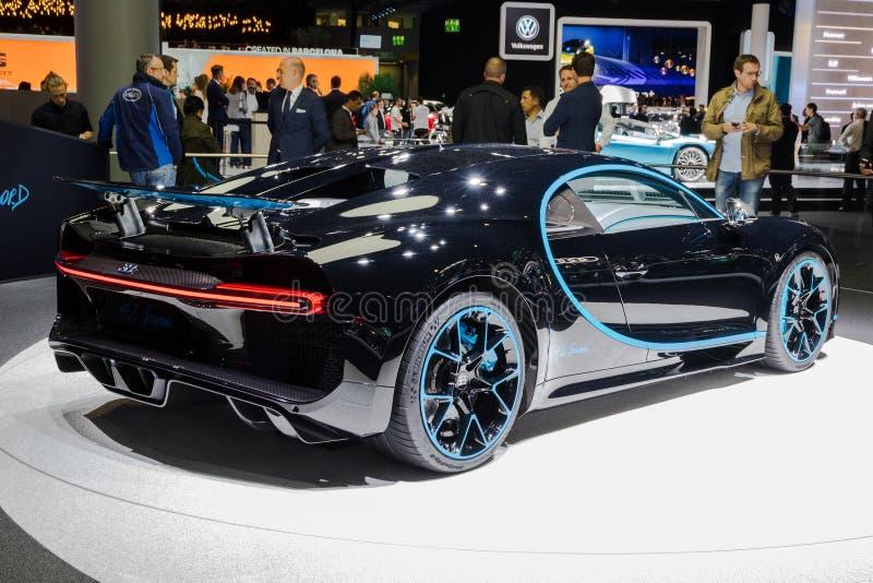 Bugatti Chiron automobile sportiva dell'edizione da 42 secondi immagine stock