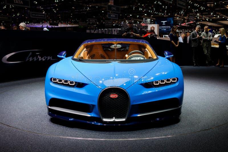 Bugatti Chiron en Ginebra foto de archivo