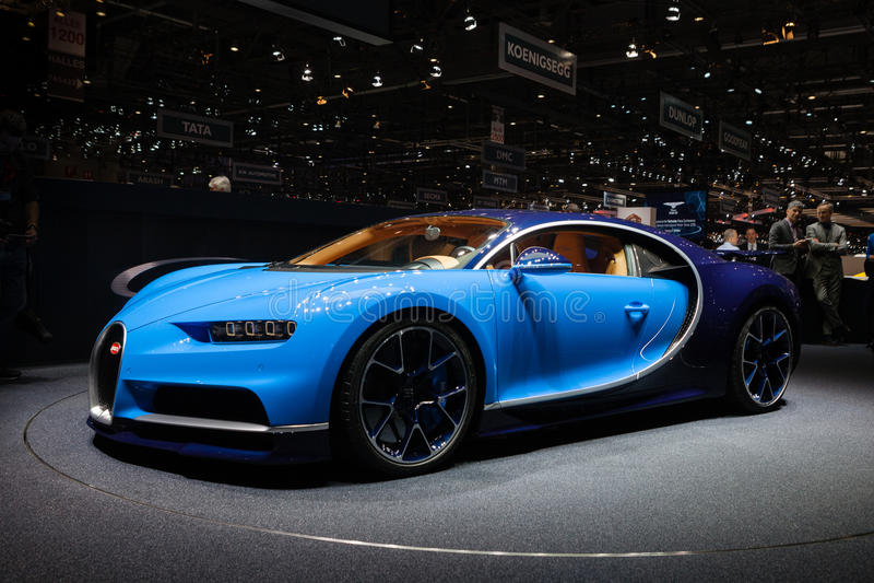 Bugatti Chiron i Genève royaltyfri bild