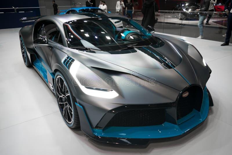 Bugatti Divo - Brand new 2020 mid-engine track sports car - Dubai Motor Show royalty free stock photo