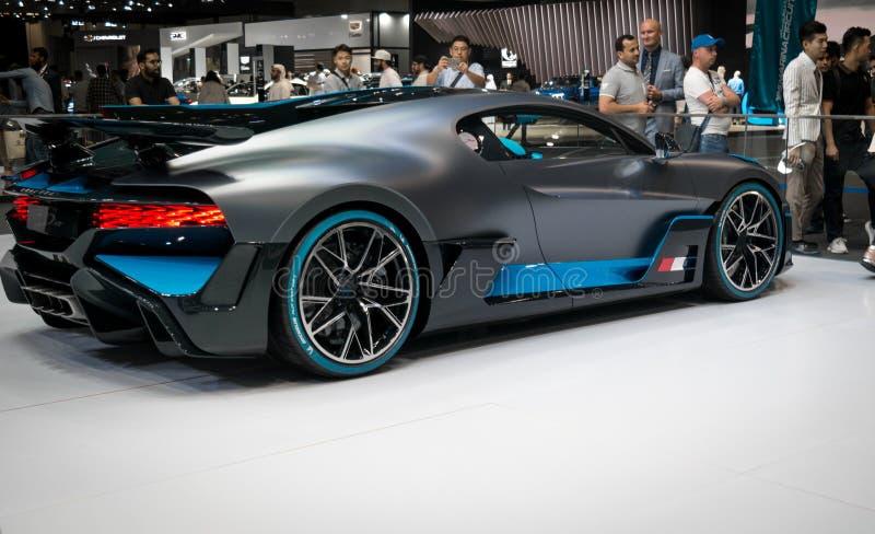 Bugatti Divo - Brand new 2020 mid-engine track sports car - Dubai Motor Show stock images