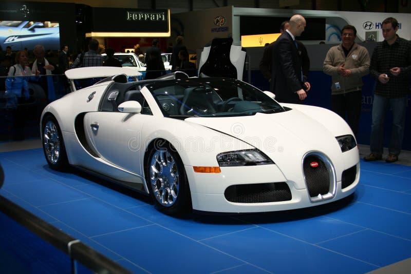 Bugatti no salão de beleza 2009 de Genebra imagem de stock