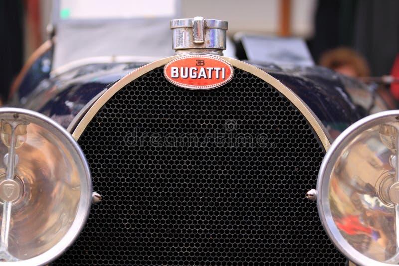 Bugatti starego zegaru samochodowy grill zdjęcie stock