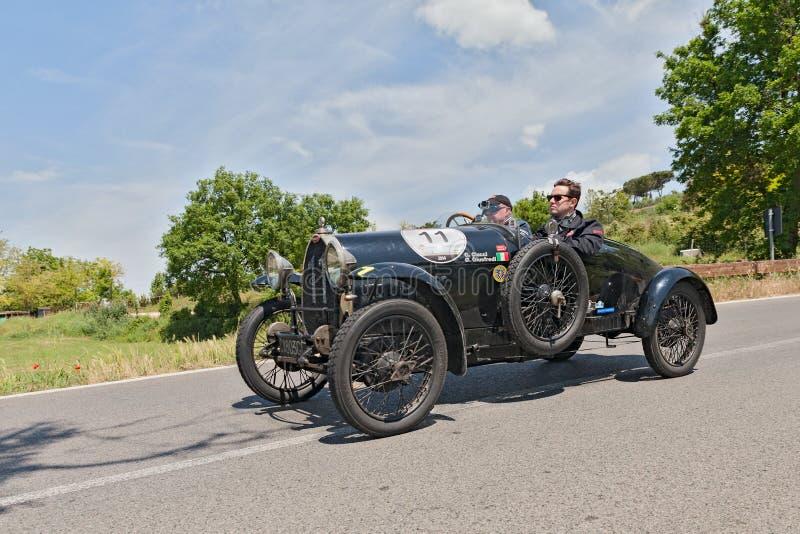 Bugatti T 23布雷西亚modifiee (1923)在Mille Miglia 2014年 免版税库存图片