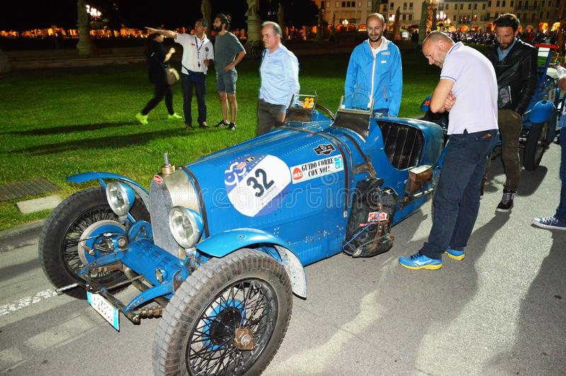 Bugatti typ 37 1927, na 1000 milach ściga się obrazy stock