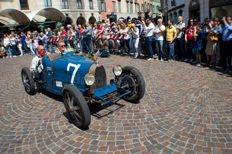 Bugatti Type 37 at Mille Miglia 2015 royalty free stock image