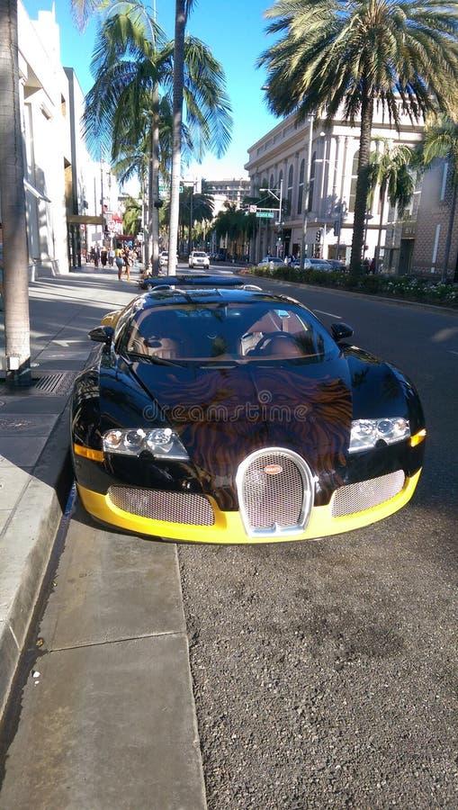 Bugatti Veyron Beverly Hills royalty free stock photos