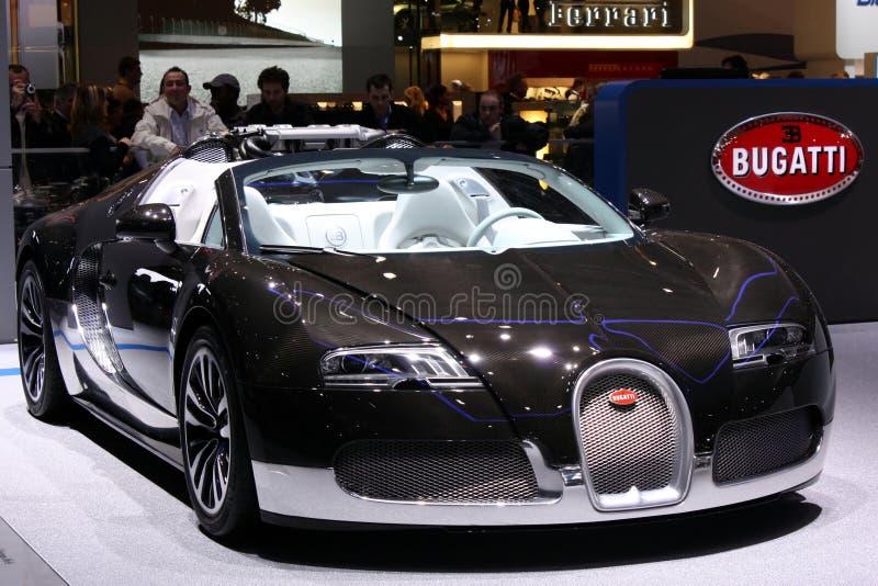 Bugatti Veyron bij de Show van de Motor 2010, Genève stock fotografie