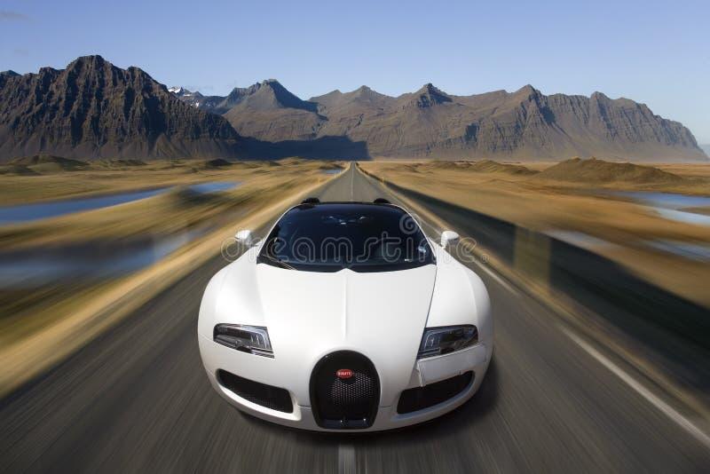 Bugatti Veyron Supercar - автомобильная технология стоковое фото