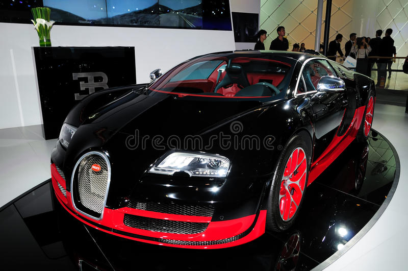 Bugatti Veyron supercar royalty free stock photography