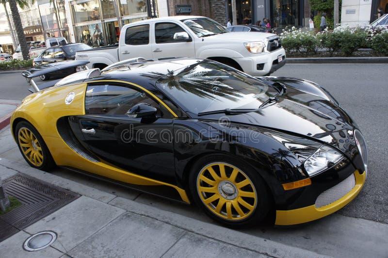 Bugatti Veyron supercar stock image