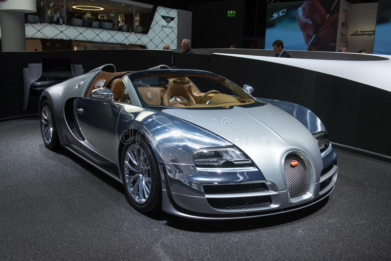 "Bugatti Veyron 16,4 tusen dollarsport Vitesse ""Jean Bugatti"", arkivbilder"