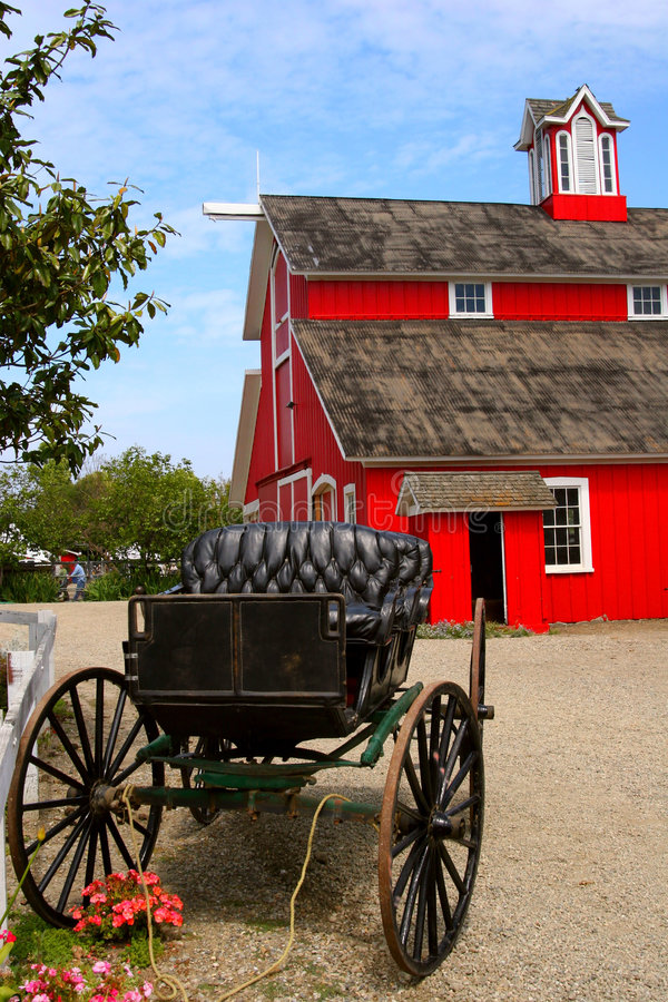 Buggy and Barn royalty free stock images