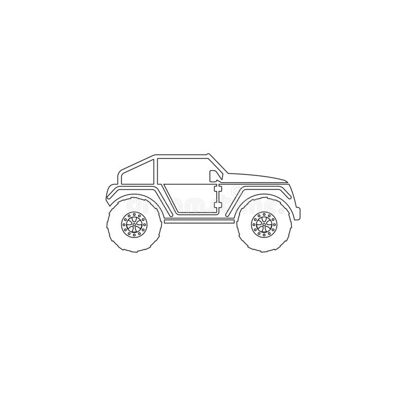 Buggy car. flat vector icon stock illustration