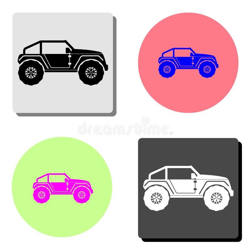buggy car. flat vector icon vector illustration
