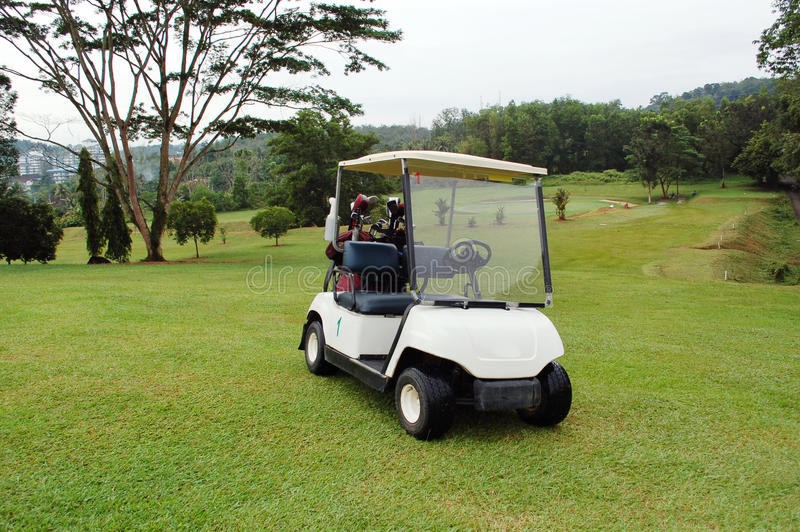 Buggy do golfe foto de stock