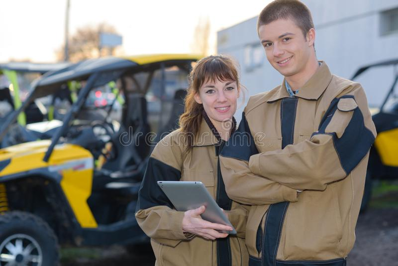 Buggy driver or technician. Drive royalty free stock photos