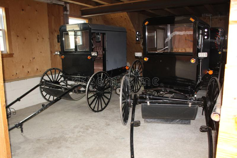 Buggy Garage at Amish Village, Lancaster County, Pennsylvania royalty free stock images