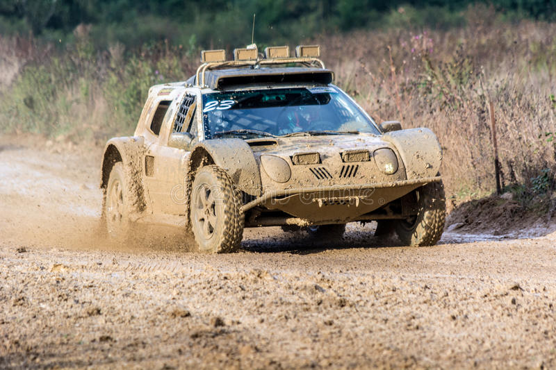 Buggy and 4x4 at 24 hours TT of France royalty free stock images