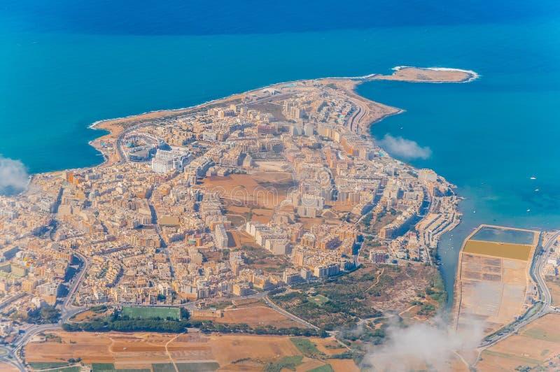 Bugibba à Malte photographie stock libre de droits