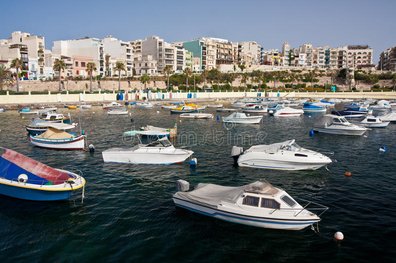 Bugibba city in Malta royalty free stock photo