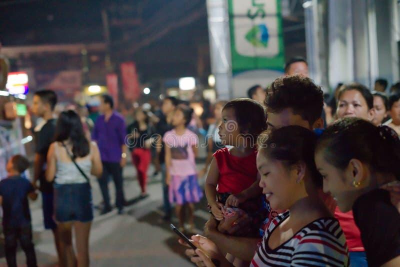 10/16/18 Buglasan festivalDumaguete Filippinerna som framåt ser royaltyfri bild