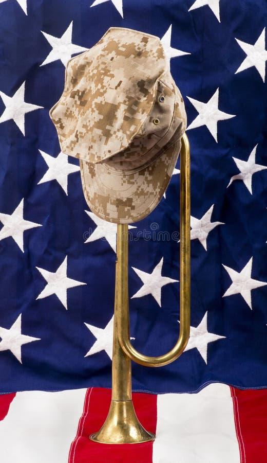 Bugle americano imagen de archivo