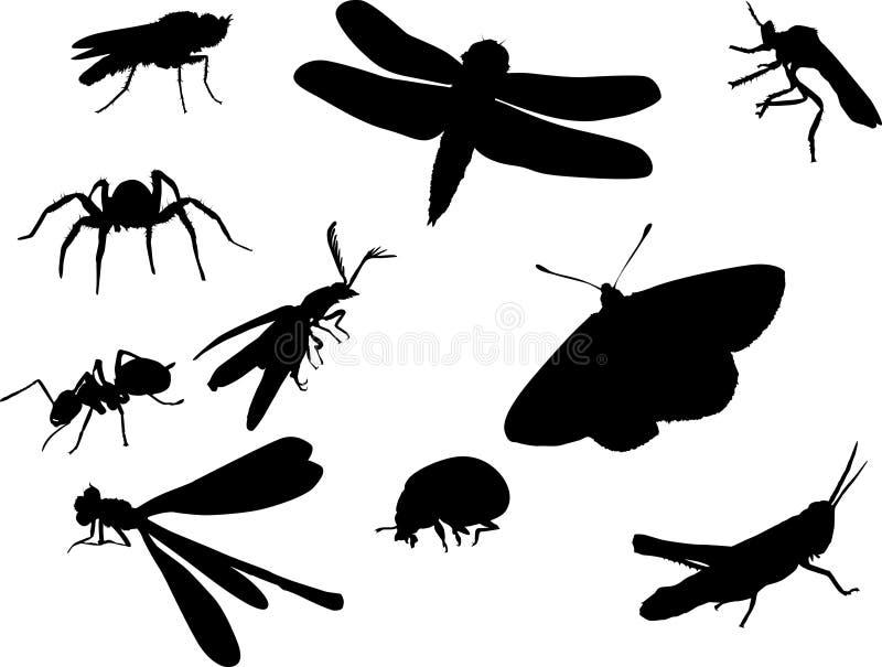 Download Bugs насекомое другие силуэты Иллюстрация штока - иллюстрации насчитывающей насекомое, бабочка: 6863332
