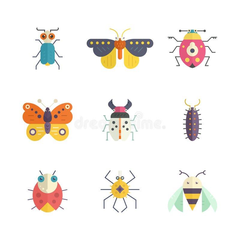 bugs цветастое иллюстрация штока