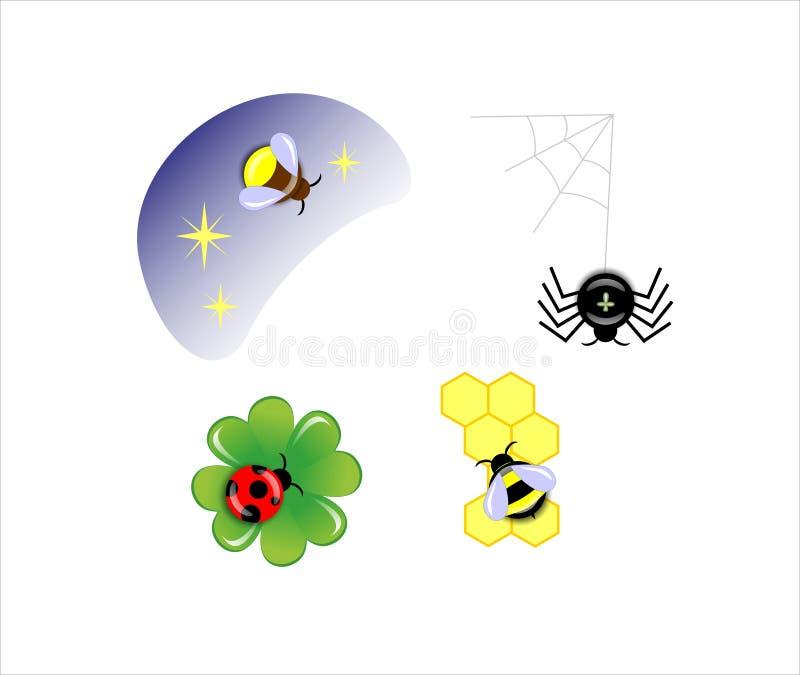 Download Bugs stock illustration. Illustration of ladybug, drawn - 25394806