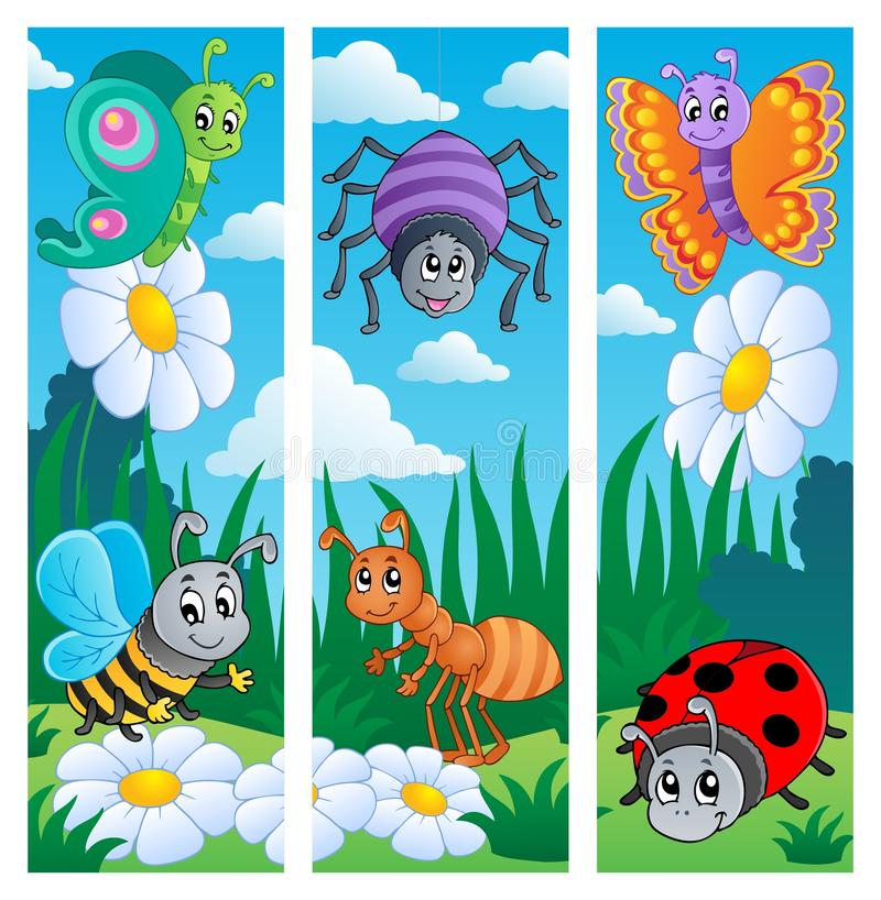Download Bugs banners collection 2 stock vector. Illustration of insect - 25446054