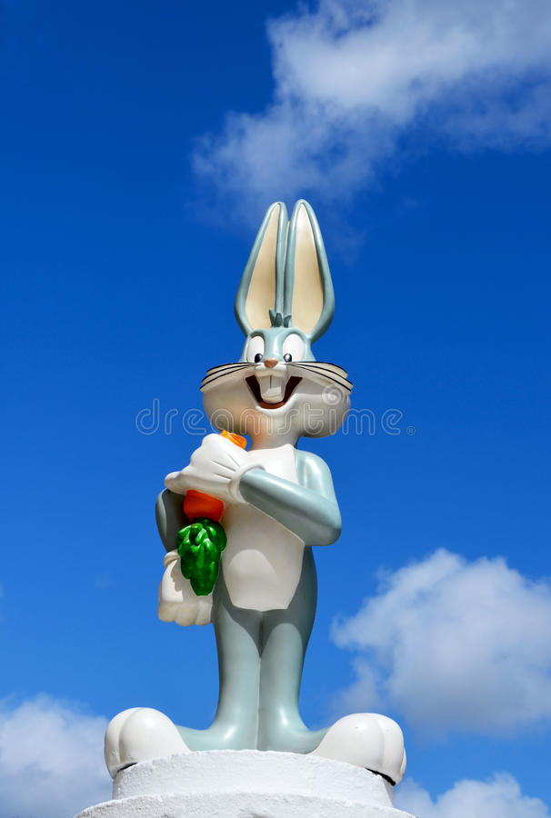 Bugs Bunny figure from Warner Bros royalty free stock photo