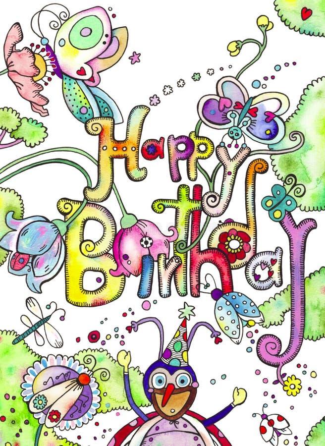 Bugs Happy Birthday Card royalty free illustration
