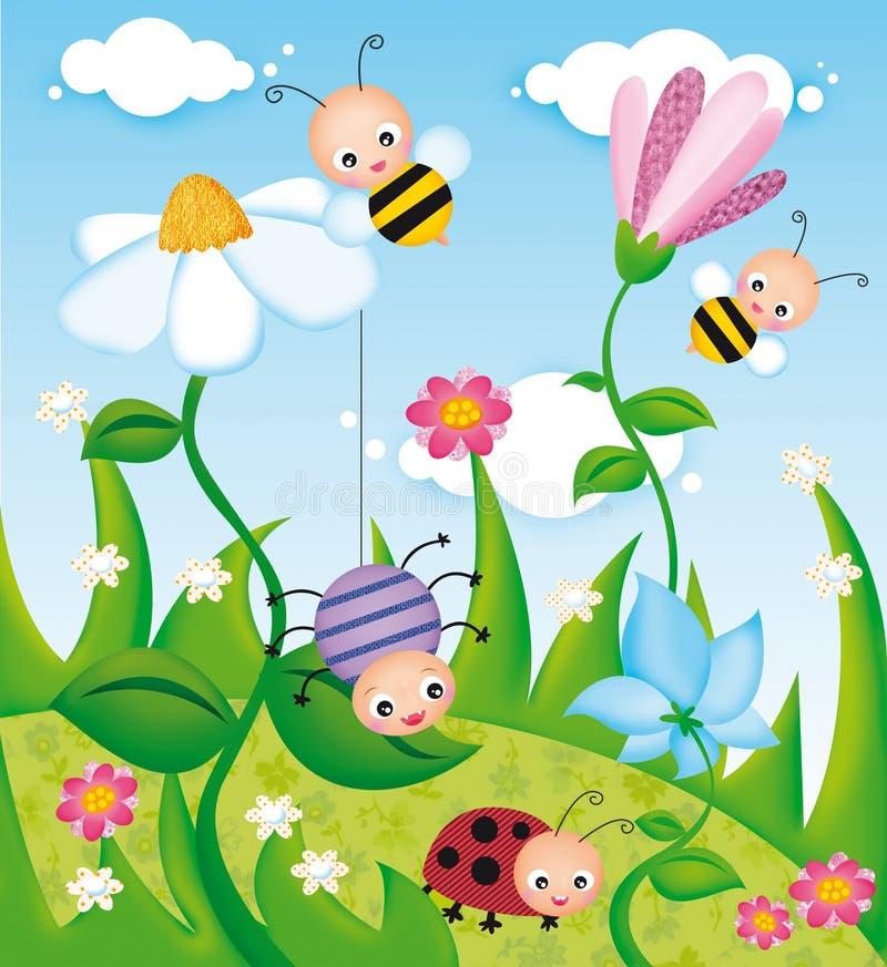 bugs livstid stock illustrationer