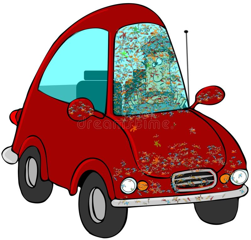 Download Bugs On The Windshield stock illustration. Image of visibility - 20514698