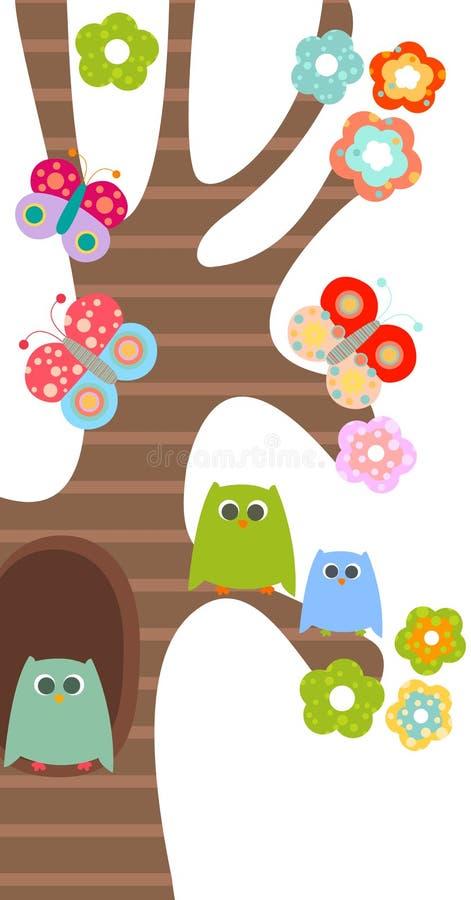 Buhos dulces stock de ilustración