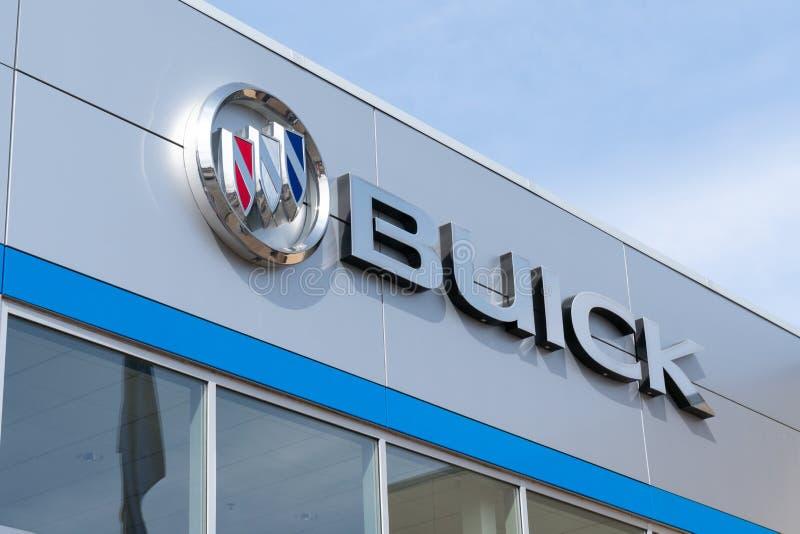 Buick-Automobil-Verkaufsstelle und Logo des eingetragenen Warenzeichens stockbilder