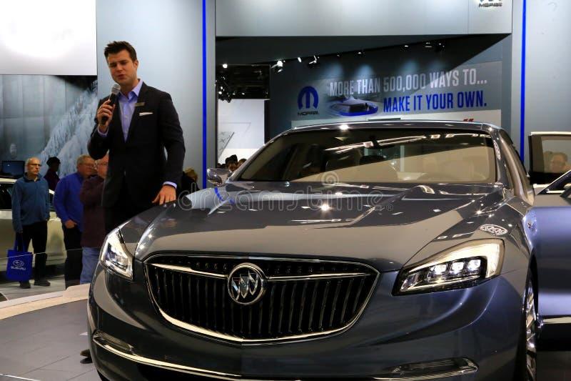Buick-de auto wordt geïntroduceerd bij de autoshow royalty-vrije stock foto
