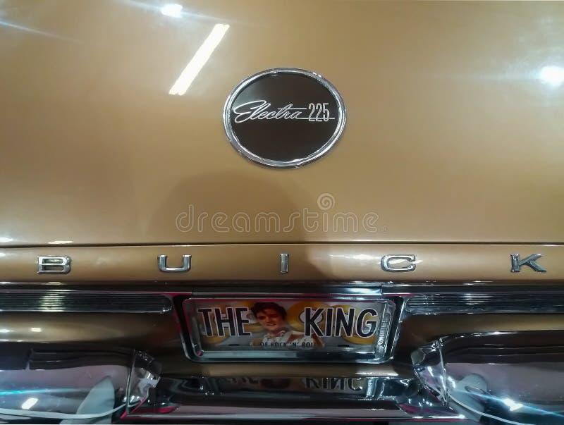 Buick-electra 225 teken Elvis King van Rots - en - broodje stock afbeelding