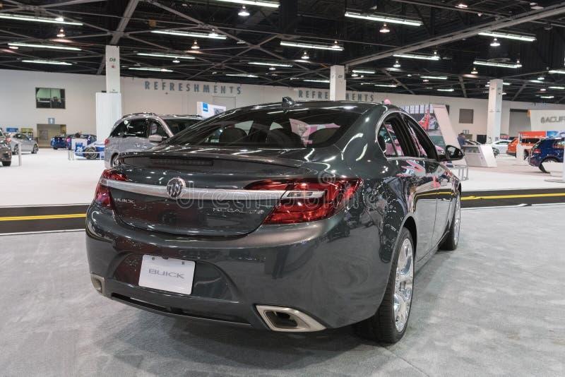 Buick Regal turboladdare GS på skärm royaltyfri foto
