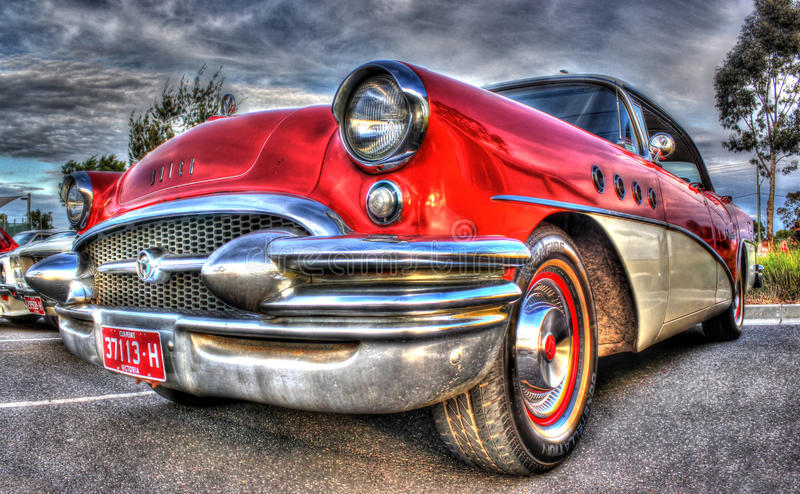 Buick rojo fotos de archivo libres de regalías