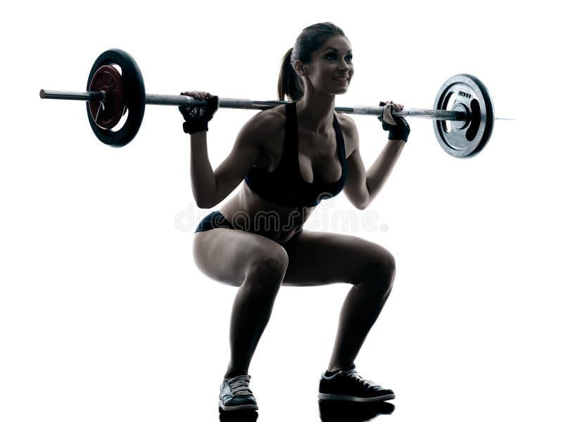 Buiding γυναίκα σώματος που απομονώνεται στοκ εικόνα