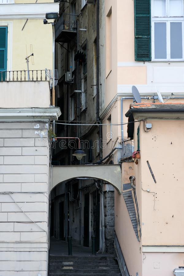Buiding with balconies in Italy royalty free stock photo
