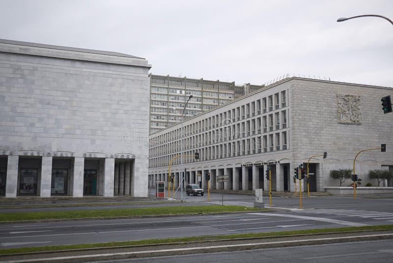 Buidings fascisti di architettura immagini stock libere da diritti